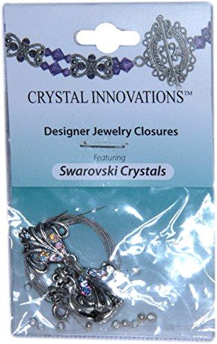 Swarovski Crystal Innovations Feather & Leaf Pink Bracelet Kit (2)