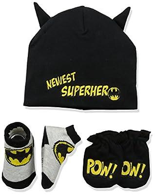 DC Comics Baby Boys Batman Take-Me-Home Set, black, 0-3 Months by DC Comics