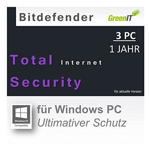 Bitdefender Total Internet Security 2016 3 USER 1 YEAR |OEM|PKC|EFS|ML