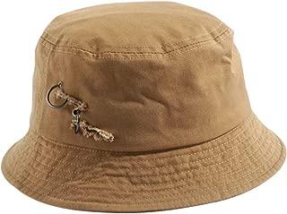 Women Foldable Shredded Hole Visor hat Iron Ring Beach hat Sun Bucket Hat