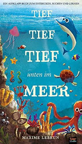 Tief tief tief unten im Meer: Ein Aufklapp-Bilderbuch zum Entdecken, Suchen und Lernen