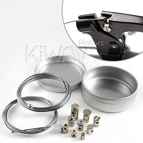 KiWAV Universal Throttle Clutch Brake parking brake Cable End Repair Travel Emergency Repair Kit Motorcycle bicycle ATV