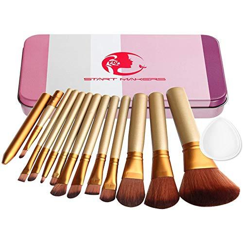 Cosmetische borstel transparante Silica poeder Puff roze ijzeren doos cosmetische en schoonheid tool