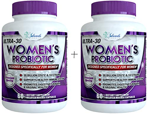 Probiotics for Women 30 Billion CFU & 18 Strains with Cranberry Extract Best Probiotic Supplement for Digestive and Urinary Health Shelf Stable Delayed Release Veggie Capsule + Prebiotic Supplements