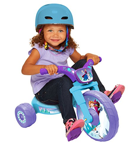 "Frozen Northern Lights 10"" Fly Wheels Junior Cruiser Ride-On, Ages 2-4, Blue/Purple, 14.25"" X 14.5"" X 23.5"", 6 Lb"