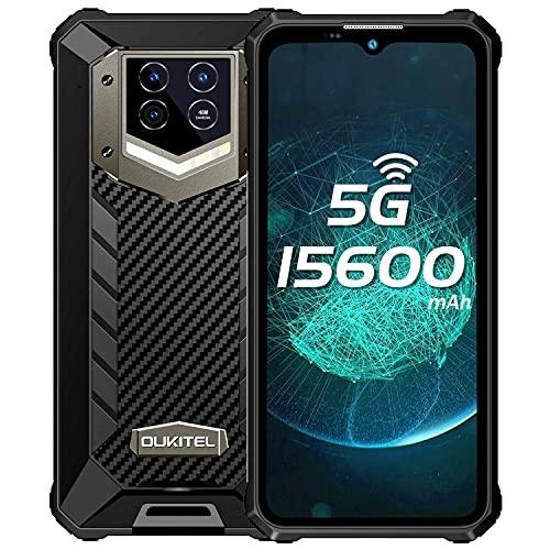 15600mAh 5G Móvil Resistente,OUKITEL WP15 Telefonos Movil Impermeable Antigolpes Android 11,IP68 IP69K,8GB+128GB,6.1 Pulgadas ,48MP Cámara Principal, impronte digitali,ID de Rostro,GPS, NFC, OTG