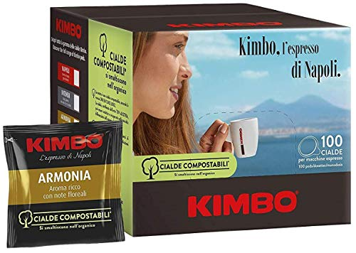 KOFFIE KIMBO ARMONIA - Box 100 PADS ESE44 7g