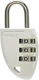 Papaiz 0114000SMBR, Cadeado de Segredo C23, Branco