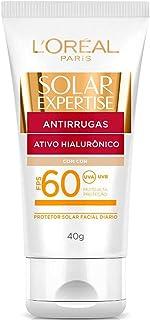 Protetor Solar Facial Anti Rugas com Cor FPS60, 50G, Solar Expertise