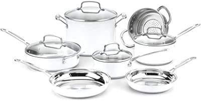 Cuisinart Chef's Classic Stainless Color Series 11-Piece Set (White), White