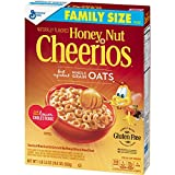 Honey Nut Cheerios, Gluten Free, Cereal with Oats, 19.5 oz Box