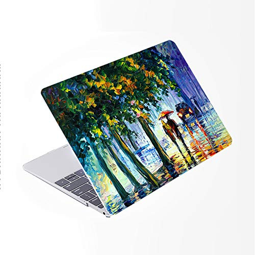 SDH Older for MacBook Air 13 Case (Model: A1369 / A1466, 2010-2017 Release), Plastic Hard Shell & Gradient Keyboard Skin Cover & Dust Plug Compatible With 13 inch for MacBook Air, Landscape painting 2