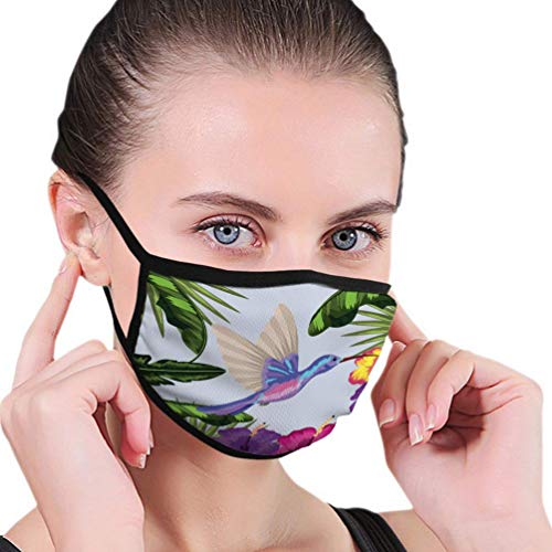 Mens Womens Mund Scraf Face Field Kolibri mit Blume und Pflanzen