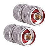 N Male Connector N-Type Male to N-Type Male Adapter Coax Connectors RF Coaxial Cable Pack of 2 by XRDS_RF(NOT for TV)
