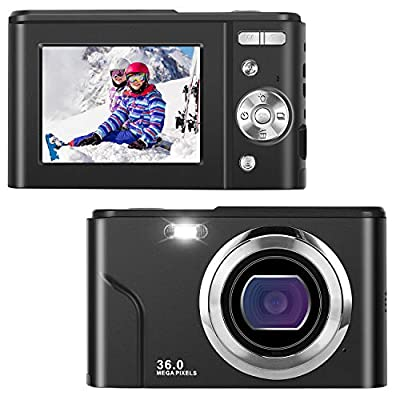 IEBRT Digital Camera,Video Camera 1080P Mini Camera Vlogging Camera LCD Screen 16X Digital Zoom 36MP Rechargeable Point and Shoot Camera for Compact Portable Kids Teens Gift?Black?…… from IEBRT