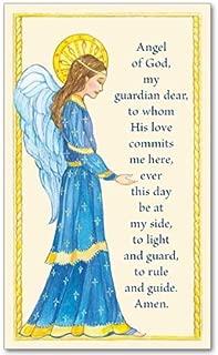 Guardian Angel of God Holy Prayer Card Free Cross Bookmark