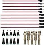 RUNCCI-YUN 30Pcs Conector DC de 5,5 x 2,1 mm,12 V DC cable de extensión,DC Power Jack Conector Adaptador,,2,1 x 5,5 mm Macho Hembra Jack Conector+BNC Conectores Coaxiales , para CCTV Seguridad Cámaras