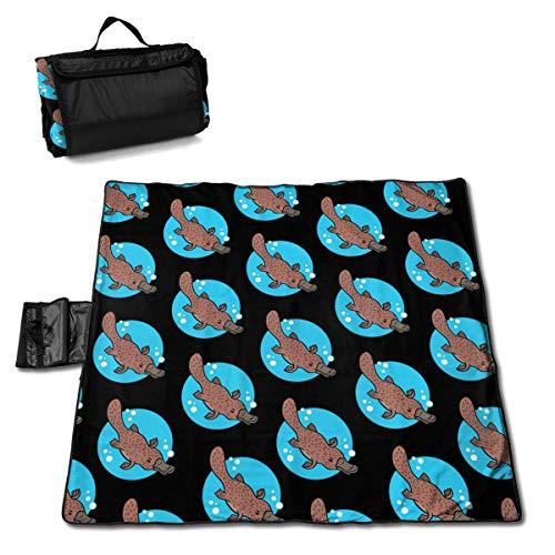 Suo Long Cartoon Platypus Couverture de Pique-Nique Mignonne Tapis de Pique-Nique Fourre-Tout Pratique Camping Plage Tapis de randonnée