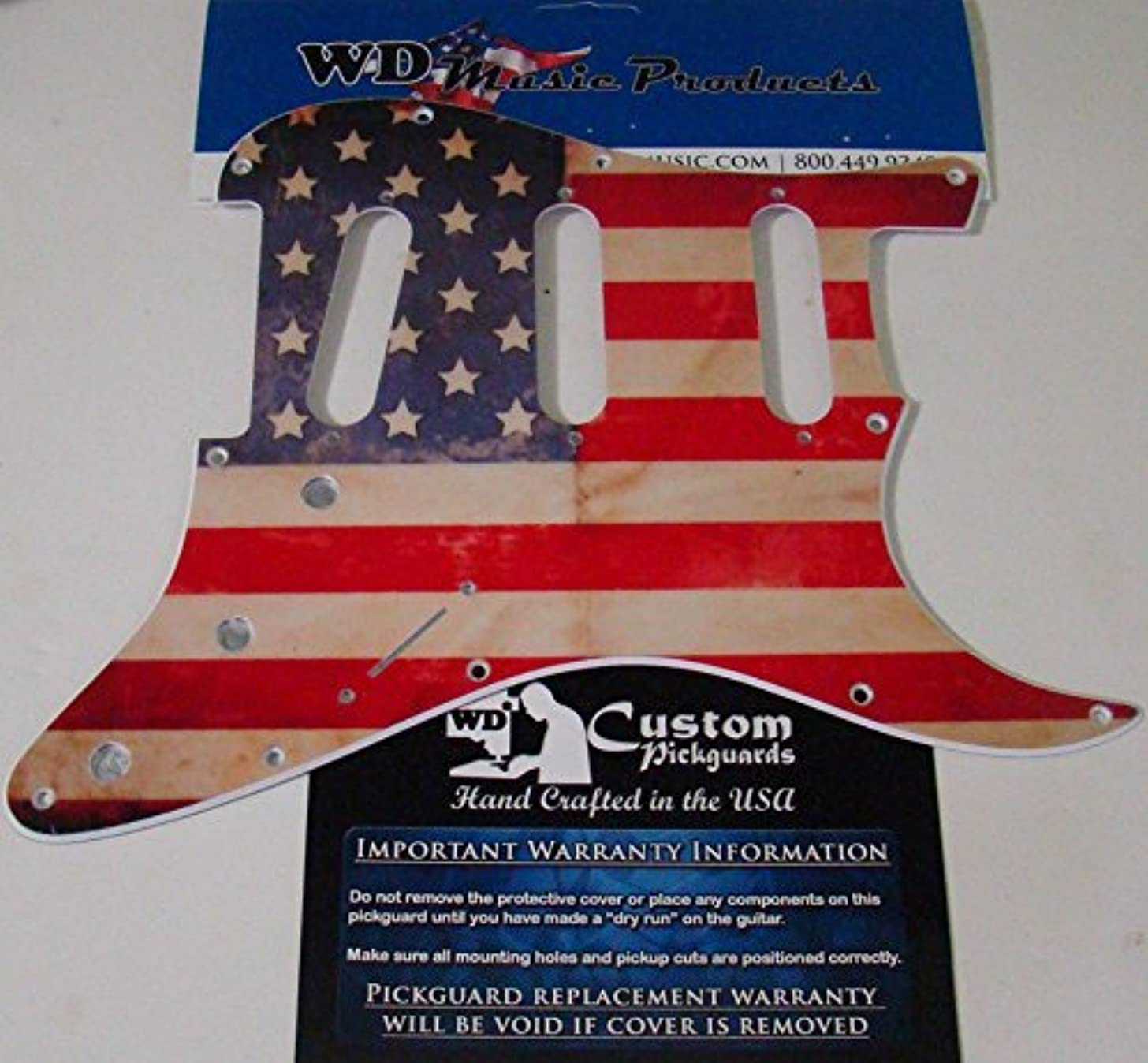 AMERICAN FLAG RELIC PICKGUARD FOR FENDER STRAT, STANDARD BRIDGE ROUT