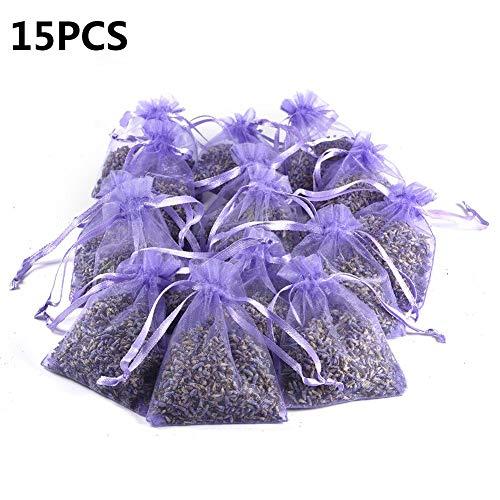 Sunronal Lavendelsäckchen mit echtem französischen Lavendel – 10/15 Packungen Duftsäckchen mit 150 g Lavendel zum Entspannen - Mottenschutz im Kleiderschrank