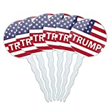 GRAPHICS & MORE President Trump American Flag Cupcake Picks Toppers Decoration...