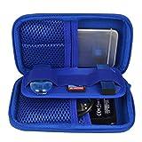 Estarer Housse Etui pour Disque Dur Externe/Clé USB, Sac Portable Batterie Externe Cartes SD Bleu