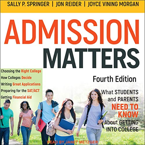 Admission Matters audiobook cover art