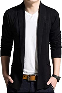 [ スミドレン ] カーディガン メンズ ジャケット 風 ニット カーデ 長袖 黒 グレー 2色 M ~ XXL 4サイズ