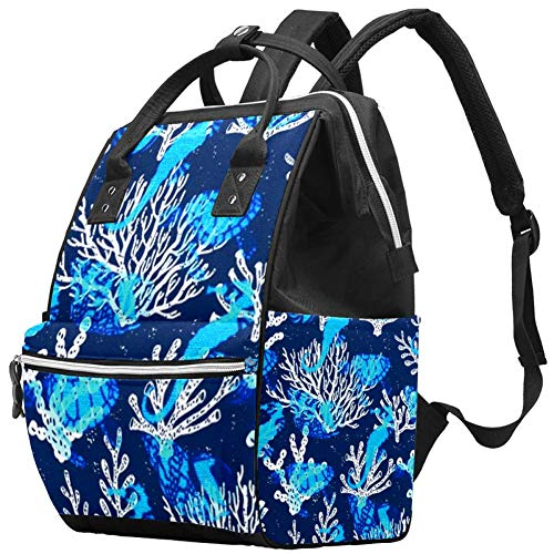 Marine Organism Travel Rucksack Casual Daypack Maternity Nappy Bag Organizer Nursing Bottle Bag