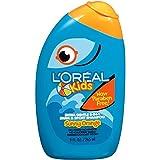 L'Oreal Kids Extra Gentle 2-in-1 Swim & Sport Shampoo, Sunny Orange, 9 Oz (Pack of 3)