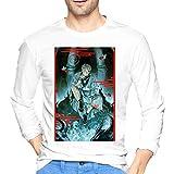 ブルームン Tシャツ 長袖 呪術廻戦 トレーナー シャツ 上着 ファッション カットソー L White 綿 メンズ レディース