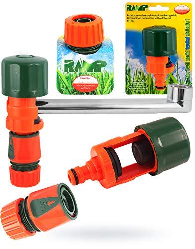 GH TRADE Universal-Wasserhahn-Adapter für Mischbatterie Küche Garten Schlauch Verbinder Plus Schlauchanschluss