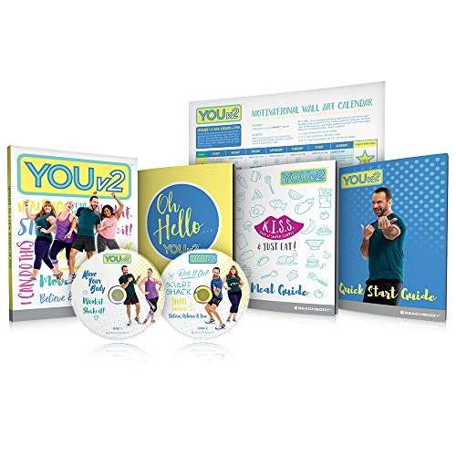 YOUv2 Beginner Health and Fitness Workout DVD Program and Meal Guide