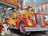 ahjs457 Rompecabezas de 1000 Jigsaw Puzzle Game Los Perros de los Bomberos Son un desafío * Juego Creativo Rompecabezas Juego Familiar para