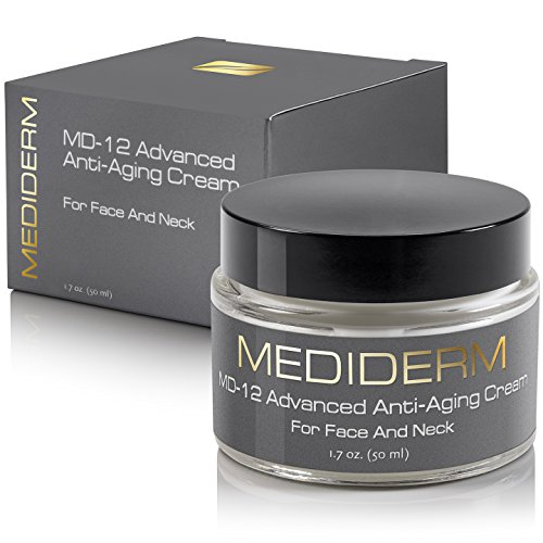 MD-12 Anti Wrinkle Neck Lift Cream & Crepe Eraser – Best Anti Aging Moisturizer & Night Repair Treatment To Tighten Saggy Turkey Neck, Hand & Forehead – With Peptides, Ceramide, Collagen & Liposome