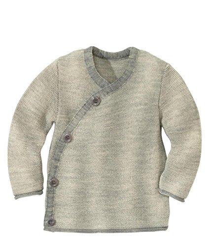 Disana 32511XX - Melange-Jacke Wolle grau/Natur (74/80)