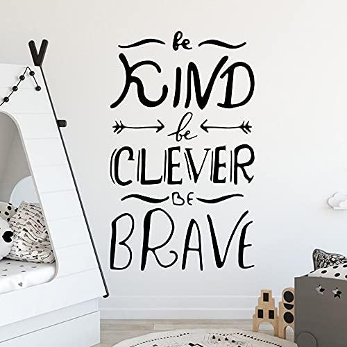 Fai da te gentilezza e coraggioso adesivo in vinile camera da letto per bambini decorazione della parete adesivo murale A8 43x71 cm