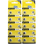 20 Tianqiu AG3 / LR41 / 192 / 392 Button Cell Battery Long Shelf Life 0% Mercury (Expire Date Marked)