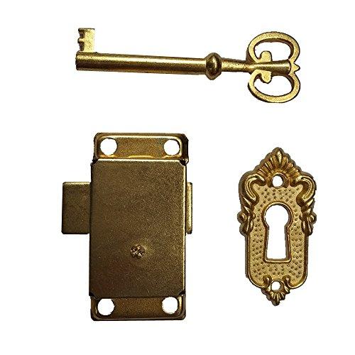 Small Bronze Brass Gold Plated Taro Cabinet Lock Iron Cabinet Locker Cupboard Door Lock Spring Door Lock (Brass)