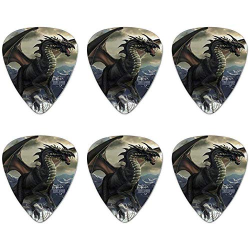 Rogue Dragon Winter Mountain Top Neuheit Guitar Picks Medium Gauge - 6er-Set