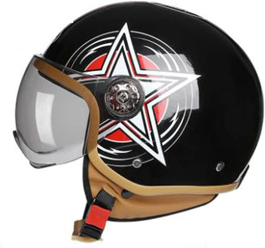 JXSMBP Retro Ranking A surprise price is realized TOP16 Motorcycle Half Helmet Motor Open DOT Approved Face