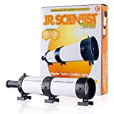 AmScope IQCREW Kids Build and Learn Jr. Scientist Telescope Kit STEM Optical Experiment Set