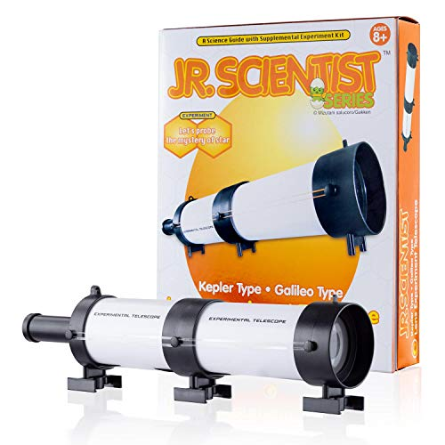 AmScope IQCREW Kids Build and Learn Jr. Scientist Telescope Kit STEM Optical Experiment Set Mississippi