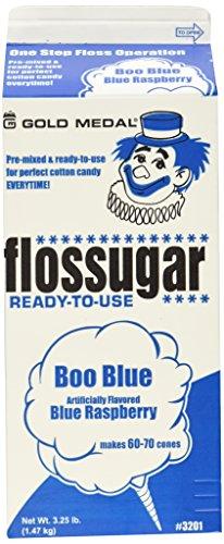 Gold Medal 3201 Blue Raspberry Flossugar 3.25 lb, 1 Carton