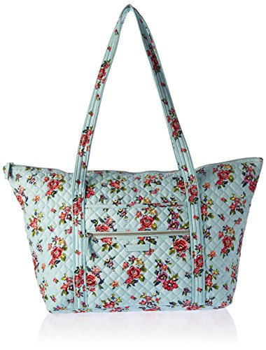 Vera Bradley Women's Signature Cotton Miller Tote Travel Bag, Water Bouquet