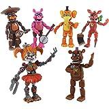 TiKiNi Figuras de acción de Five Nights at Freddys, 6 piezas de figuras de acción de juego caliente, juguetes de vacaciones, decoración para el hogar, coche, regalo para los fans del juego