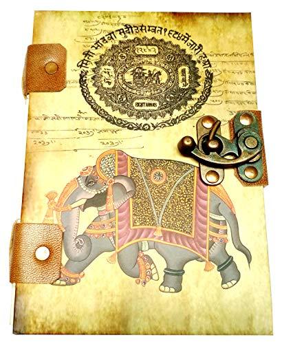 Purpledip Vintage Journal 'Royal Times': Handgemaakt Papier Tijdschrift in Gedrukte Hard Cover (11691)