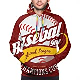 Sweat-Shirt à Capuche pour Balle de Baseball avec emblème National américain de Sport Sportif américain 'Bat-and-Ball', L Sweat-Shirt