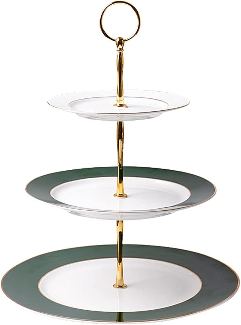 Cupcake Holder 3-layer Ceramic Cake Handles with Multi-col High order Columbus Mall Stand