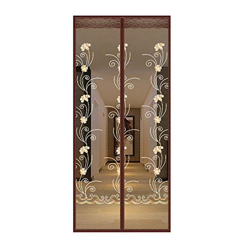 HUIJU Puerta De Pantalla Magnética Velcro Mute Cifrado Gasa Mosquitera Ventilación Libre Adecuado Para 85 * 220 Cm,#2,80Width*210Height